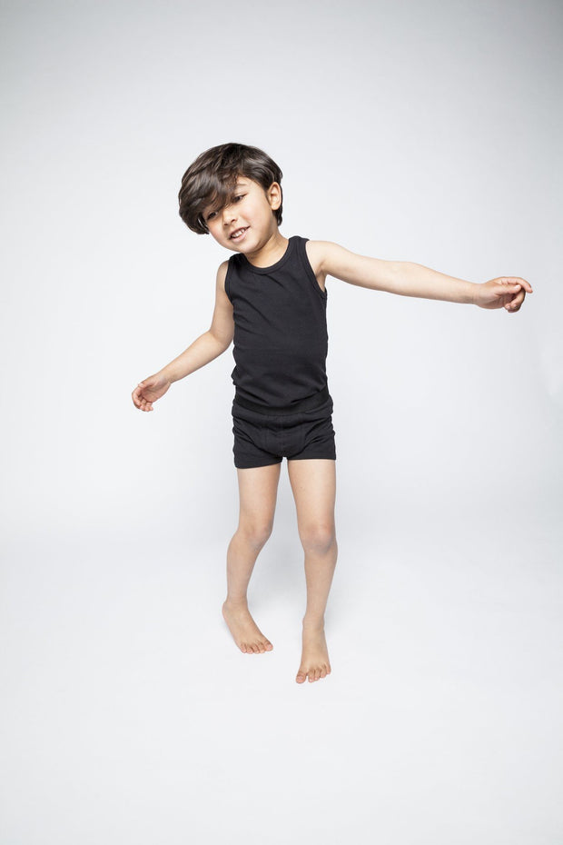 Mingo, baby Black Boy's Boxers-LAST SIZE! 1-2 yrs - when we wear young