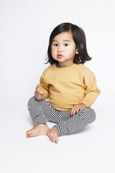 Stripe Knee Patch Leggings - Mingo -when we wear young
