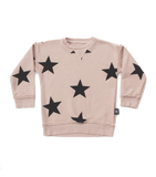 nununu, baby Powder Pink Star Sweatshirt - when we wear young