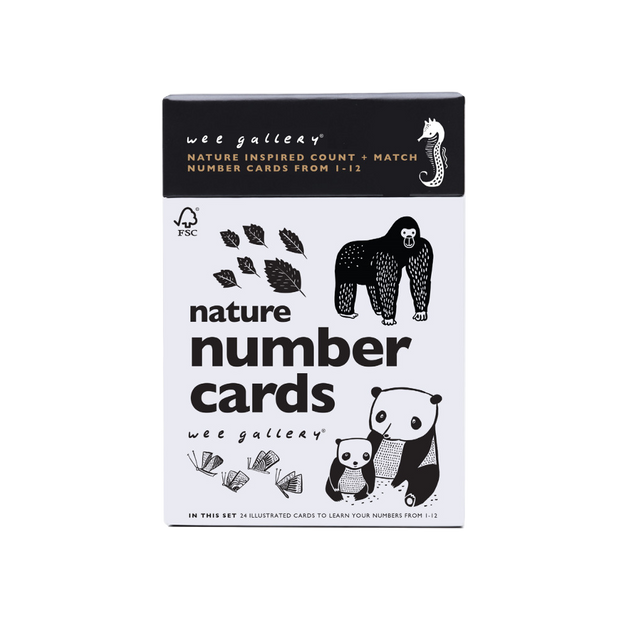 Wee Gallery, baby Nature Number Cards - when we wear young