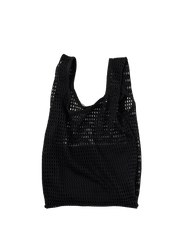 baggu, baby Black Net Baggu with Pouch - when we wear young