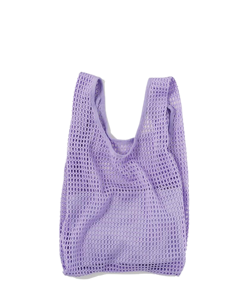 Lilac Net Baggu with Pouch