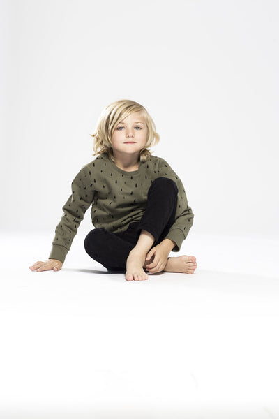 one we like, baby Olive Organic Drops Sweatshirt - when we wear young