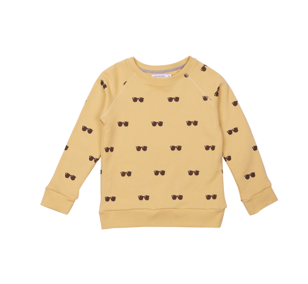 one we like, baby Organic Cornsilk Sunglasses Sweatshirt - when we wear young