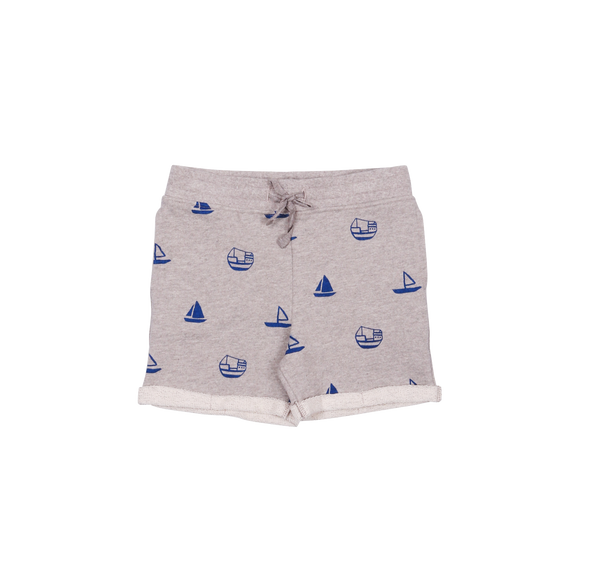 one we like, baby Organic Grey Boats Sweatshorts-LAST SIZE! 1yr - when we wear young