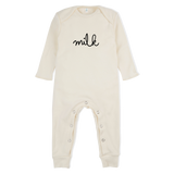 Natural Milk Playsuit - Organic Zoo -when we wear young