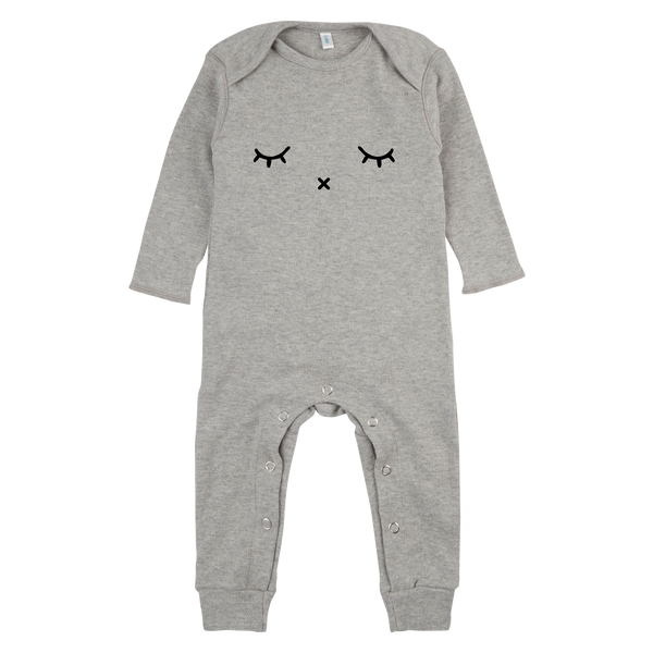Organic Zoo, baby Grey Sleepy Playsuit-LAST SIZE! 3-6 - when we wear young