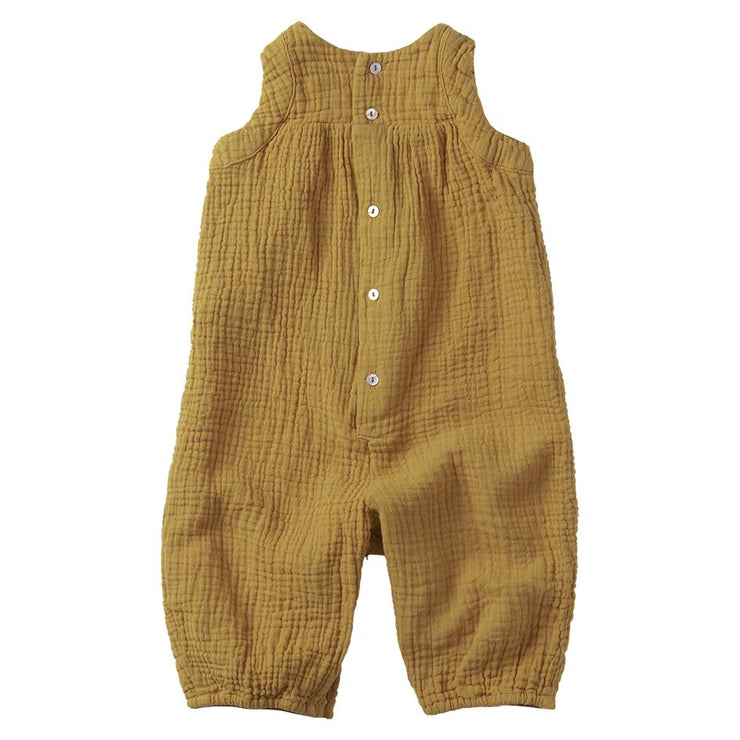 Mingo, baby Spruce Yellow Muslin Jumpsuit - when we wear young