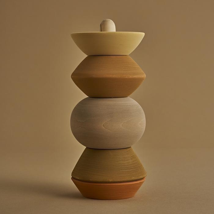 Natural Ball Sculpture Stacking Tower