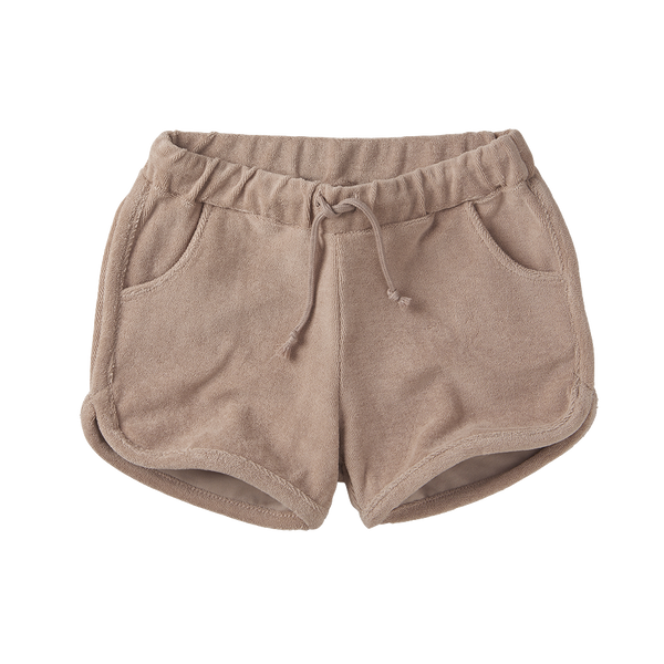 Mingo, baby Fawn Rose Terry Shorts - when we wear young