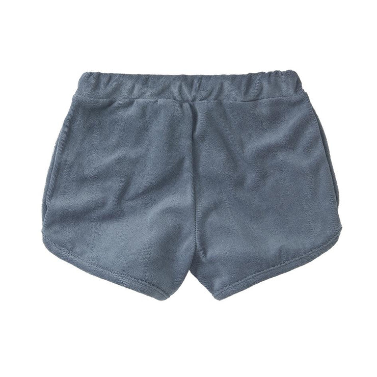Mingo, baby Stone Blue Terry Shorts - when we wear young