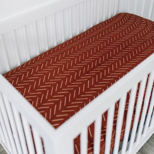 Rust Lines Crib Sheet