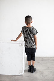 Be Mi Los Angeles, baby Raw Edge Tee Tie Die Dark - when we wear young