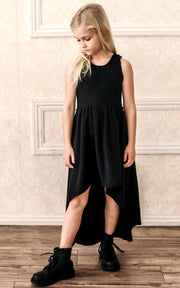 Be Mi Los Angeles, baby Black Giselle Dress - when we wear young