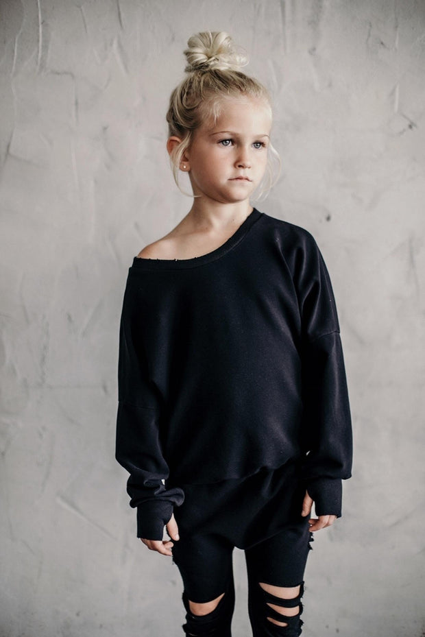 Be Mi Los Angeles, baby Black Malibu Sweatshirt - when we wear young