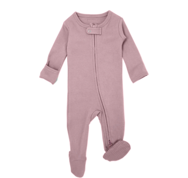 Dusty Lavender Organic Zipper Sleeper