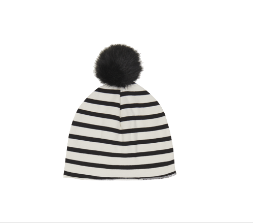 House of Jamie, baby Striped Pom Pom Hat - when we wear young