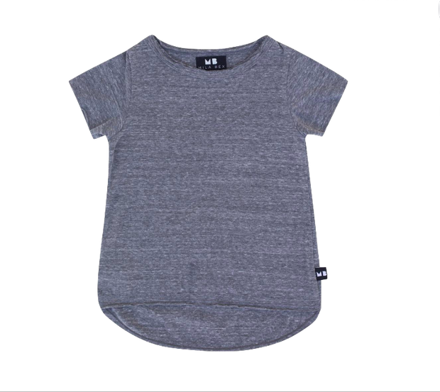 Be Mi Los Angeles, baby Raw Edge Grey T-Shirt - when we wear young