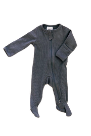 mebie baby, baby Steel Ribbed Footed Zip Sleeper - when we wear young