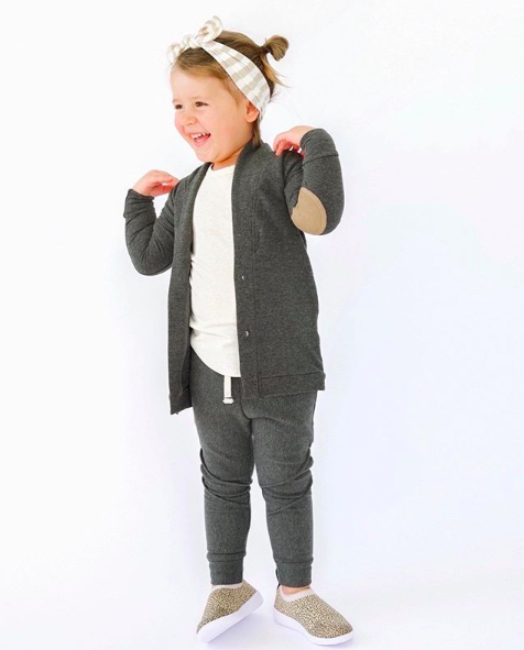 Os & Oakes, baby Charcoal Bamboo Fleece Joggers - when we wear young