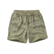 Mingo, baby Green Oak Grass Print Shorts - when we wear young