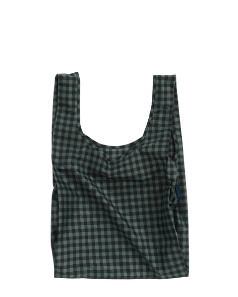 Green Gingham Standard Baggu - baggu -when we wear young