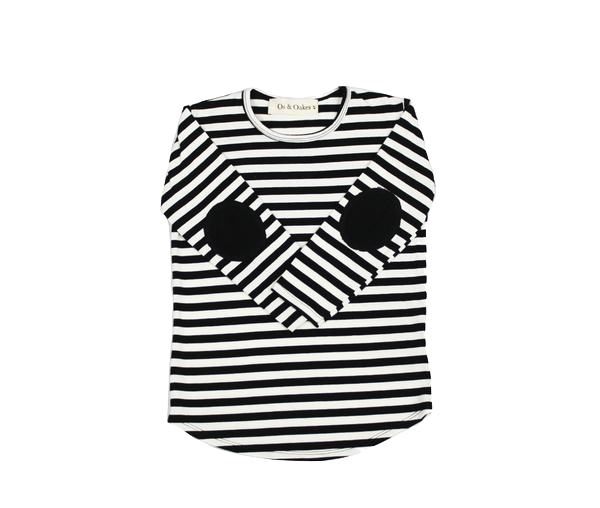 Os & Oakes, baby Striped Spot Me Long Sleeve - when we wear young