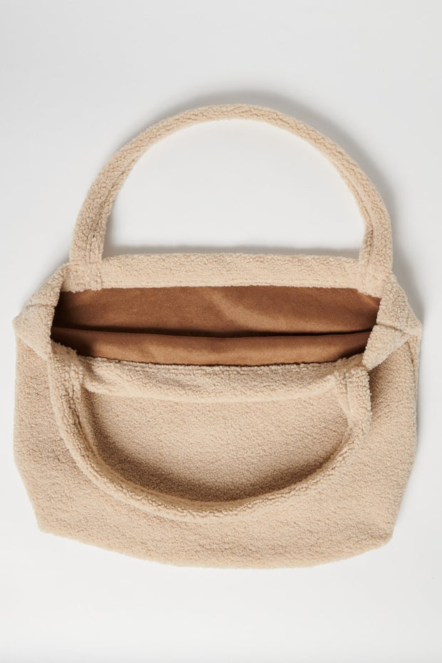 Ecru Chunky Teddy Mom Bag