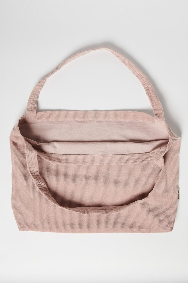 Dusty Pink Rib Mom Bag