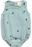 Mini Sibling, baby Mint Sunsuit-LAST SIZE! 3-6m - when we wear young