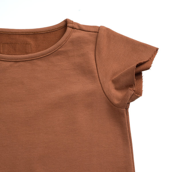 Little Hedonist, Mocha T-Shirt Dress - when we wear young