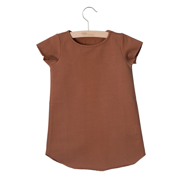 Little Hedonist, baby Mocha T-Shirt Dress - when we wear young