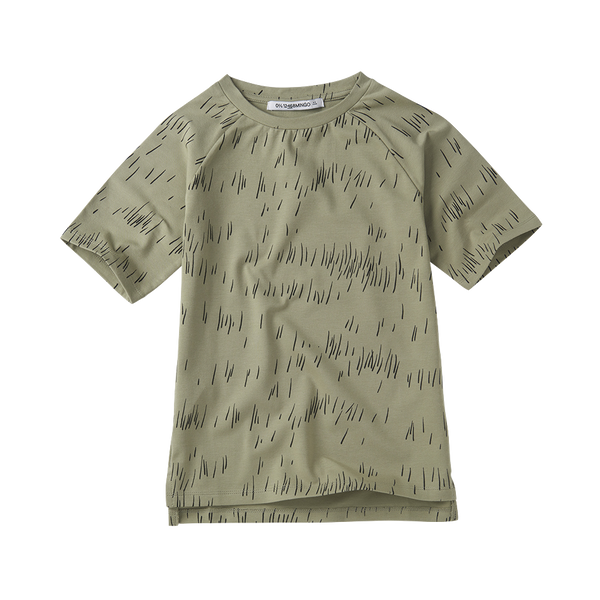 Mingo, baby Oak Green Grass Print Tee - when we wear young