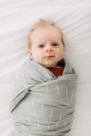 mebie baby, baby Desert Sage Muslin Swaddle - when we wear young