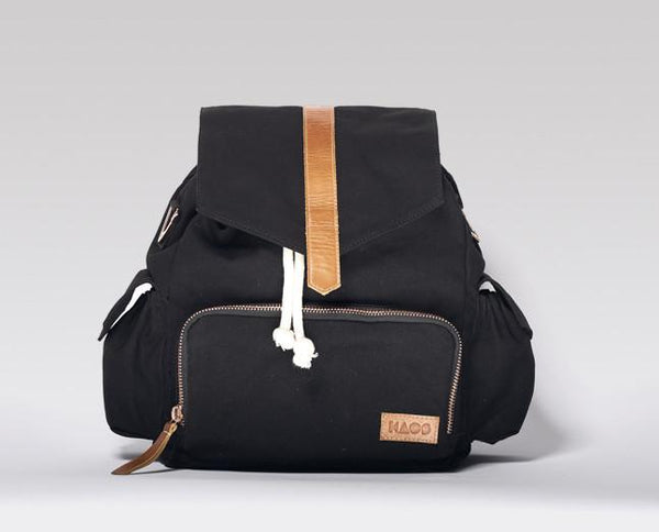 Kaos, baby Black/Tan Changing Backpack - when we wear young