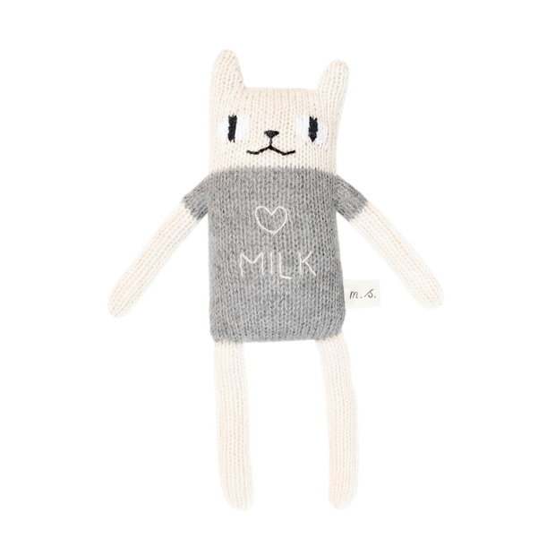 Main Sauvage, baby Alpaca Wool Grey Loves Milk Cat - when we wear young
