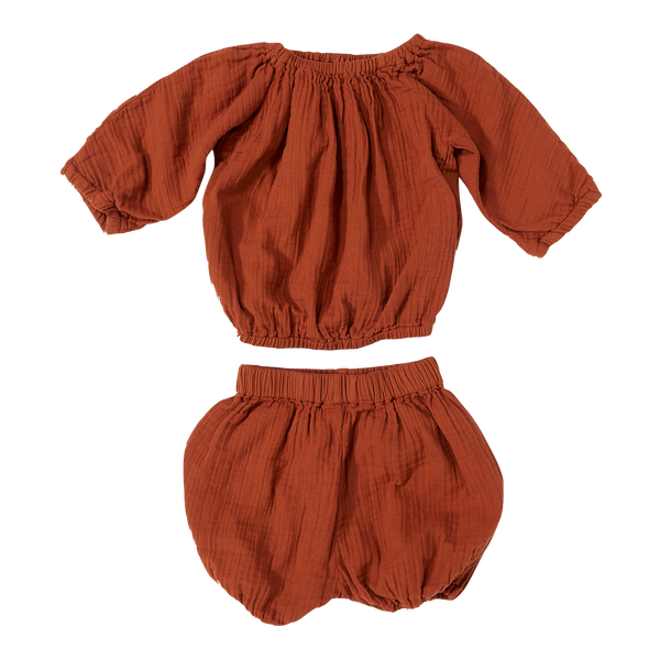 daily brat, baby Rust Comfy Set - when we wear young