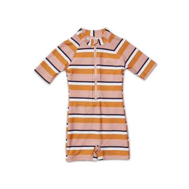 Max Sea Rose/Mustard Stripe Swim Jumpsuit