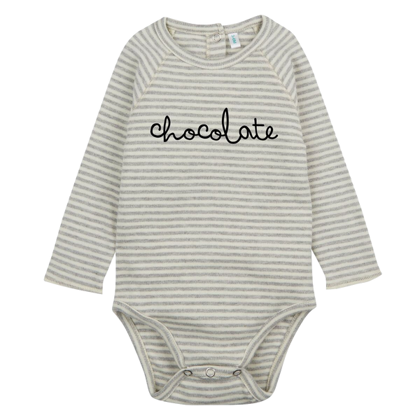 Stripy Chocolate Bodysuit - Organic Zoo -when we wear young