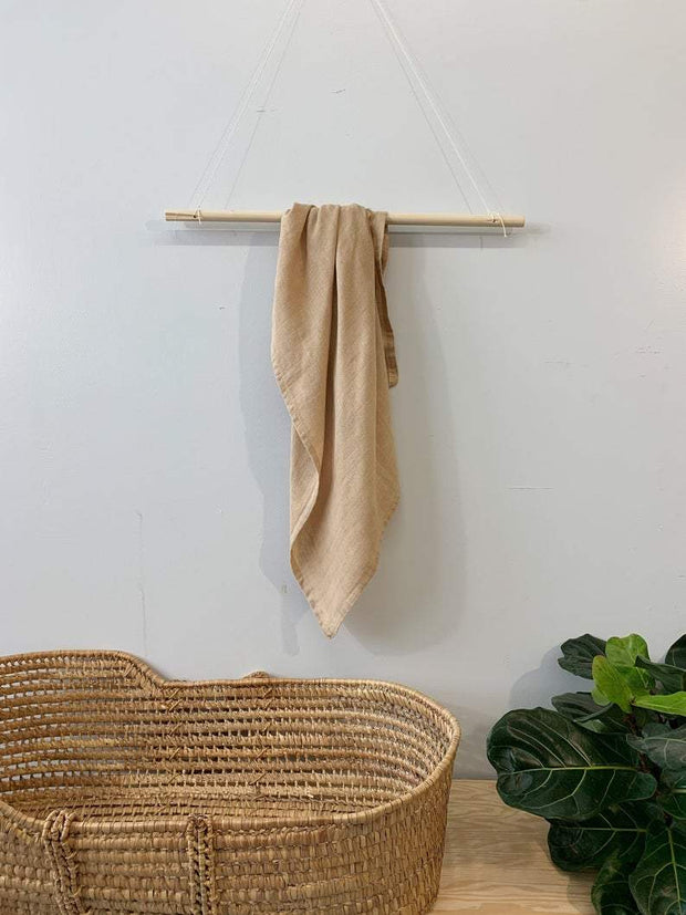 Latte Organic Swaddle Blanket