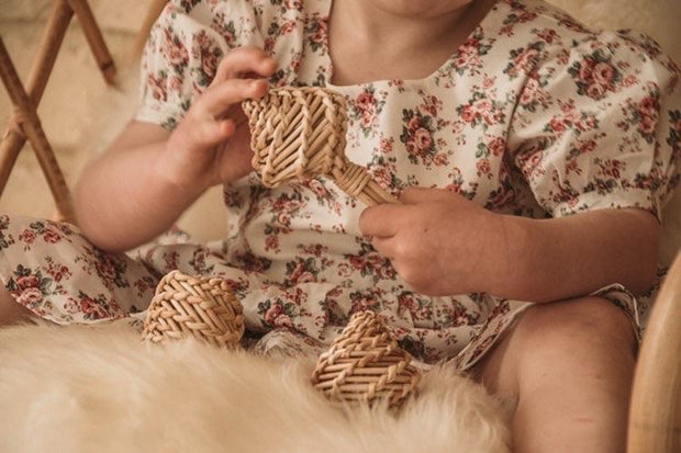 Babynoise, baby Rattan Rattle - when we wear young