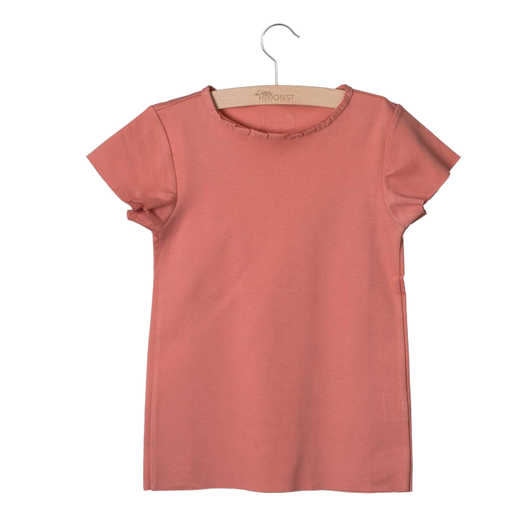 Little Hedonist, baby Desert Sand Raw Edge T-shirt -LAST SIZE! 4/5 T - when we wear young