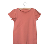 Little Hedonist, baby Desert Sand Raw Edge T-shirt - when we wear young