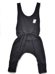 Kid's Stuff, baby Black Grow Overalls - when we wear young