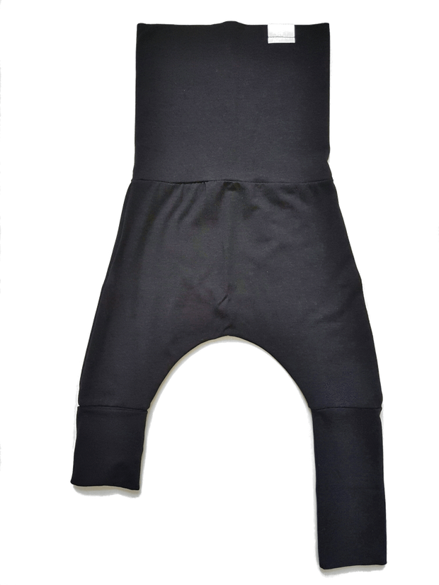 Kid's Stuff, baby Black Grow Harem Pants - when we wear young