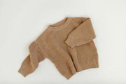 Camel Chunky Cotton Pullover