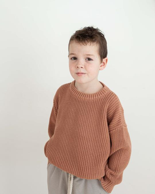 Claypot Chunky Cotton Pullover-LAST SIZE! 2yrs