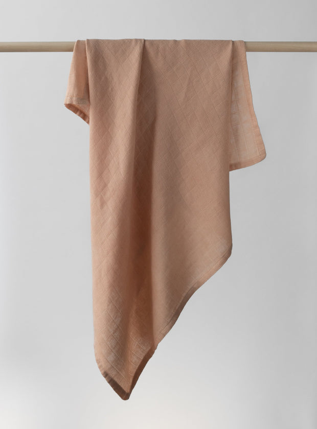 Dusty Pink Organic Swaddle Blanket