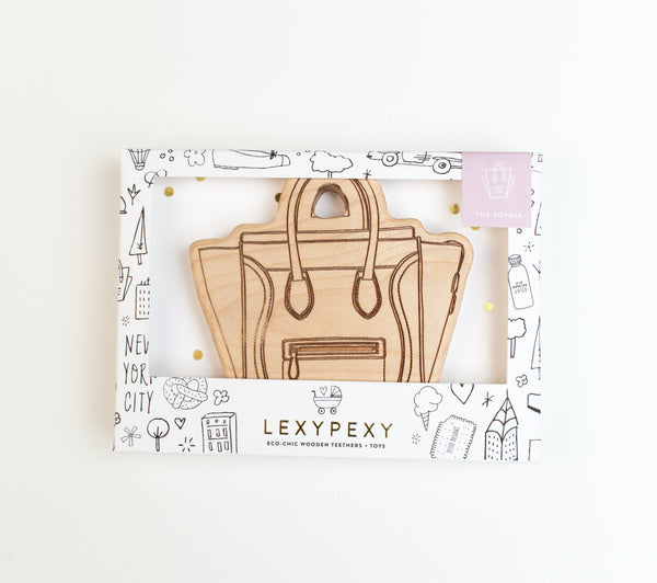 Lexy Pexy, baby The Sophia Handbag Teether - 1 left! - when we wear young