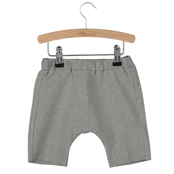 Little Hedonist, baby Grey Sweatshorts-LAST SIZE! 3-6 m - when we wear young